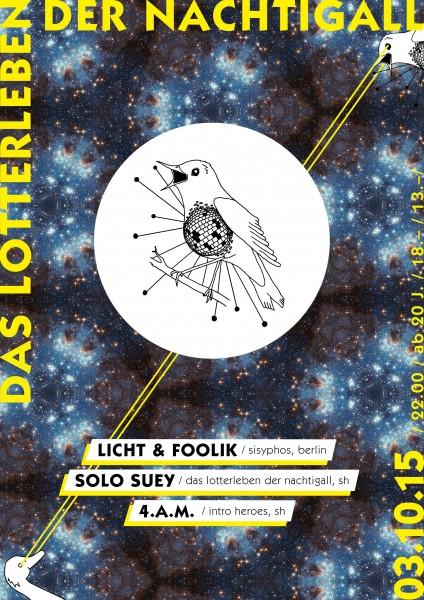 DJs Licht & Foolik (Sisyphos/Berlin), Solo Suey (DLdN/SH), 4.a.m. (Intro Heroes/SH)
