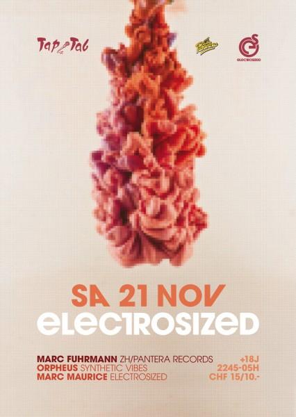 DJs Marc Fuhrmann («Panthera Rec.»/ZH), Orpheus («Synthetic Vibes»), Marc Maurice («electrosized»)