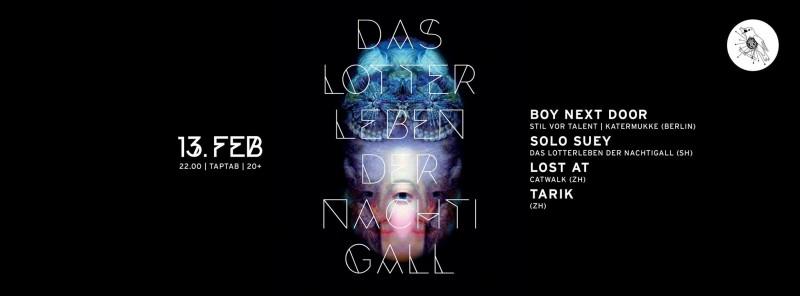 DJs Boy Next Door (Stil vor Talent/KaterMukke/Berlin), Lost at (Catwalk/ZH), Solo Suey (dLdN/SH), Intro Hero