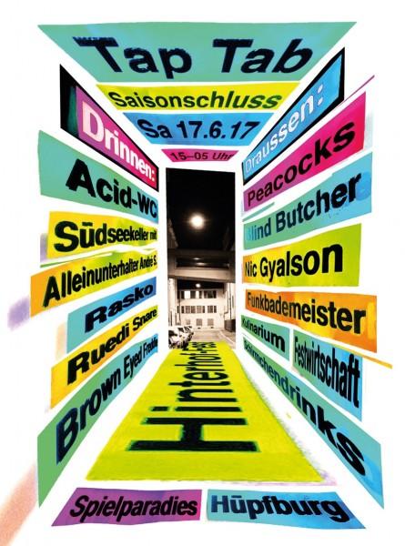 The Peacocks (Winti) Blind Butcher (LU) Nic Gyalson (TI) André S., Diverse DJs, Bars, Foodstände, Spiele und mehr