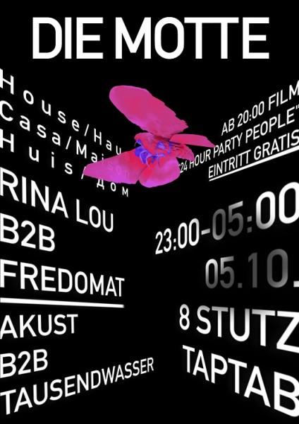 DJs Rina Lou b2b Fredomat, Akust b2b Tausendwasser