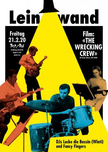 «The Wrecking Crew» (R: Denny Tedesco, USA 2008, Sprache: Englisch, Untertitel: Englisch), DJs Locke die Bossin (Winti) und Fancy Fingers